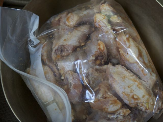 Marinating wings 790 xxx